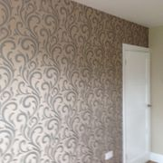 Wallpapering work that has been designed for a domestic customer